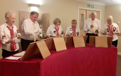 Hengist Field Care Home welcomes Upchurch Hand Bell Ringers