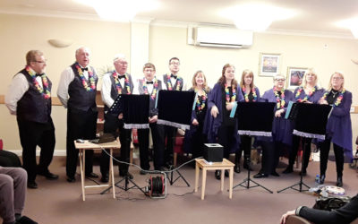 The Maypole Minstrels entertain at Hengist Field Care Home