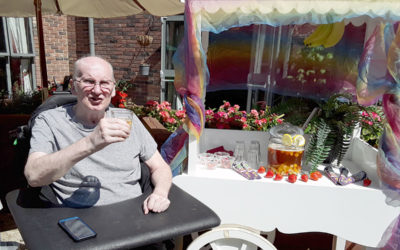 Birthday celebrations and enjoying the sun at Hengist Field Care Home