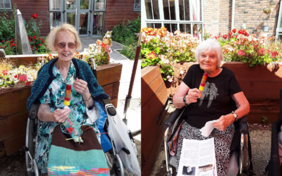 Cooling treats in the garden at Hengist Field Care Home