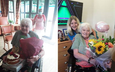 Birthday celebrations and visits at Hengist Field Care Home