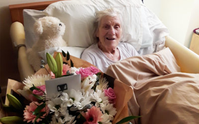 Birthday wishes for Betty at Hengist Field Care Home