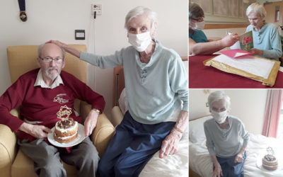 Birthday wishes for Daphne at Hengist FieldCare Home