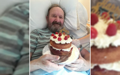 Happy birthday to Dennis at Hengist Field Care Home
