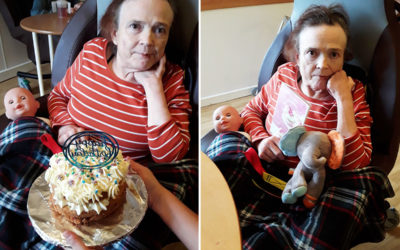 Birthday wishes for Beverly at Hengist Field Care Home