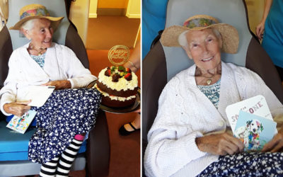 Birthday wishes for Eileen at Hengist Field Care Home