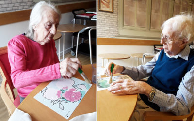 Magic picture painting at Hengist Field Care Home