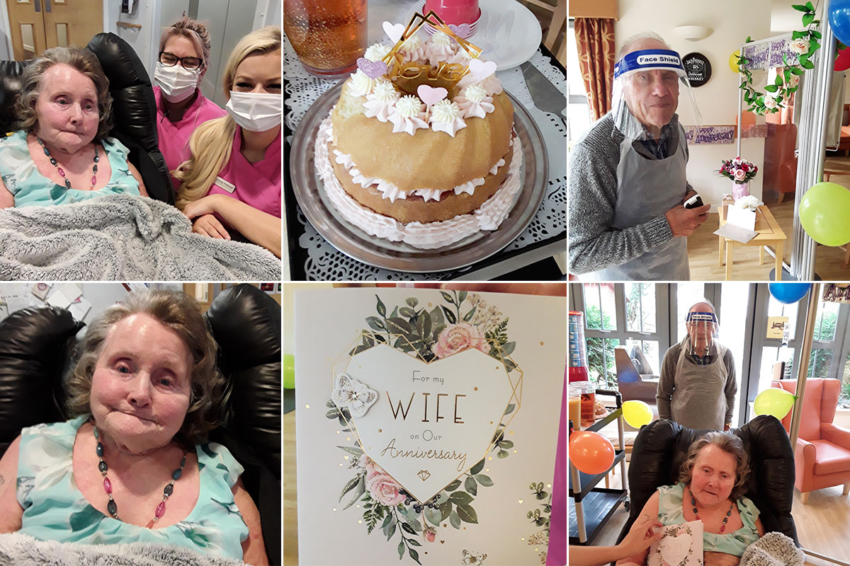 Wedding anniversary celebrations at Hengist Field Care Home