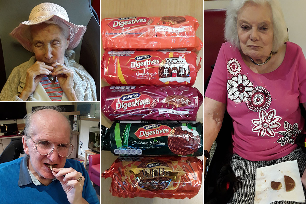 Chocolate biscuit tasting at Hengist Field Care Home