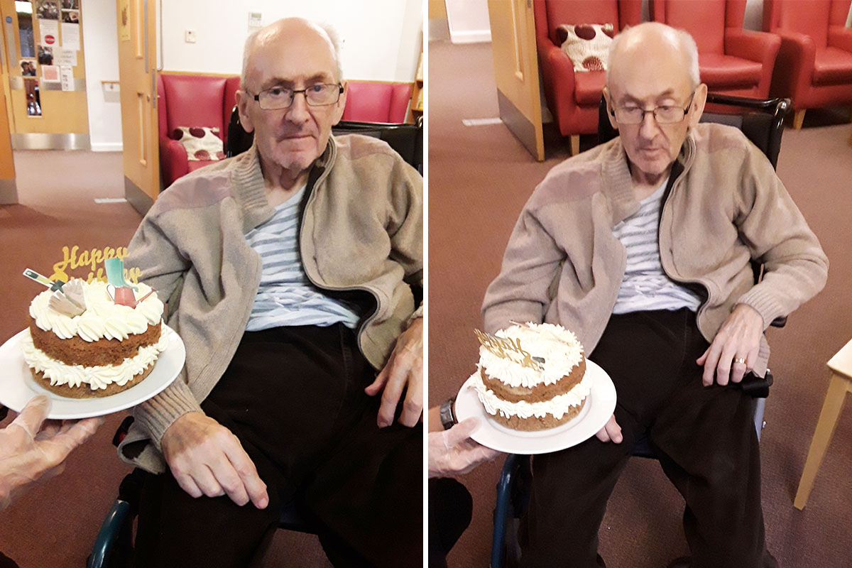 Happy birthday to Peter at Hengist Field Care Home