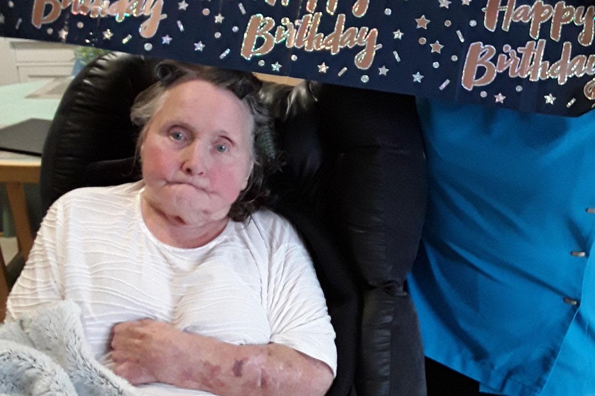 Happy birthday to Rita at Hengist Field Care Home