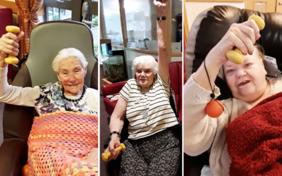 Hengist Field Care Home residents enjoy armchair exercises