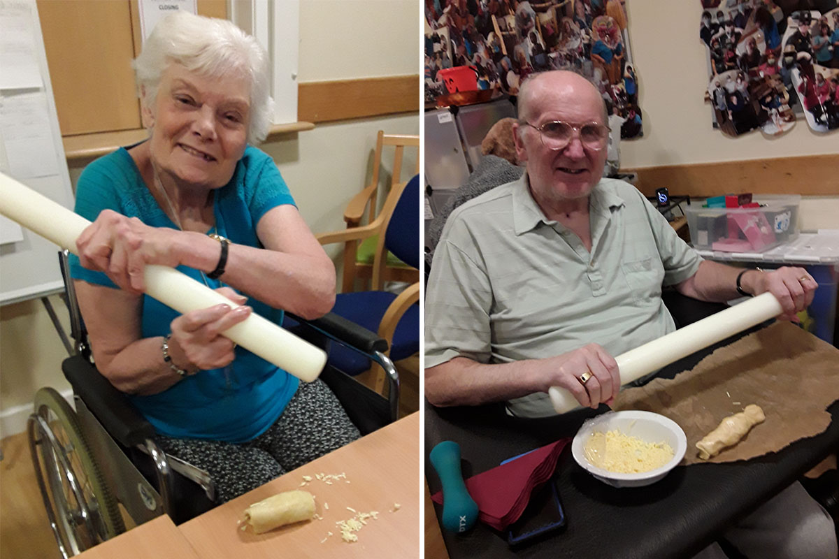 Cheese straws and chocolate chip pastries at Hengist Field Care Home