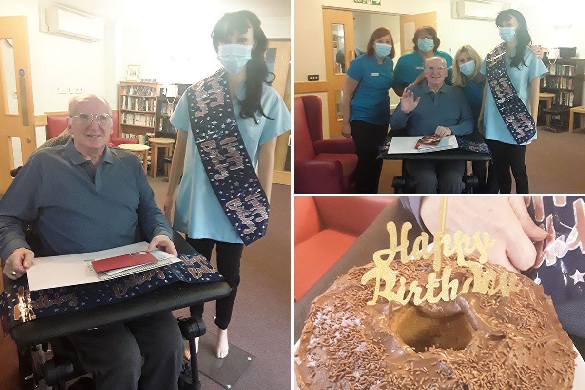 Birthday wishes for David at Hengist Field Care Home