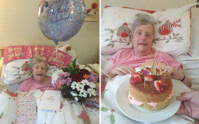 Birthday wishes to Jackie at Hengist Field Care Home