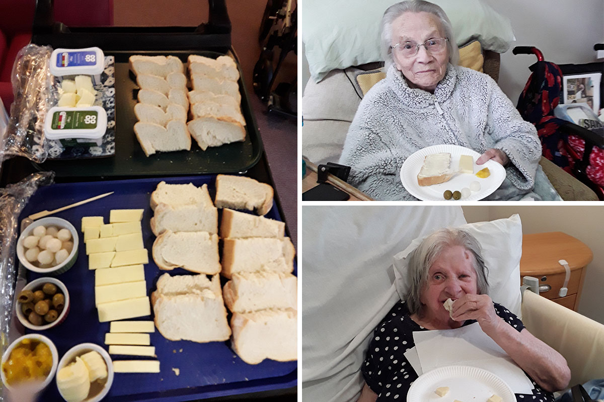 Hengist Field Care Home residents enjoy a delicious picnic spread