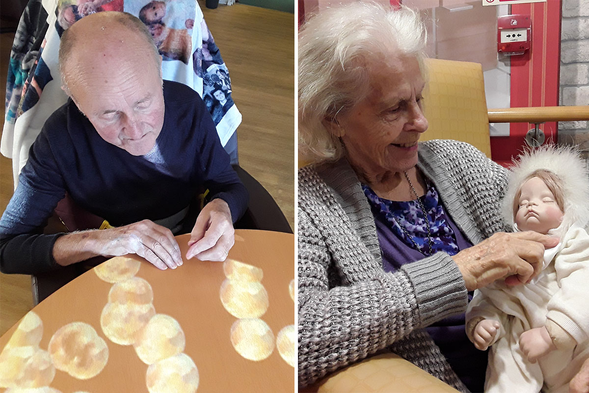 Sensory fun and cuddles at Hengist Field Care Home