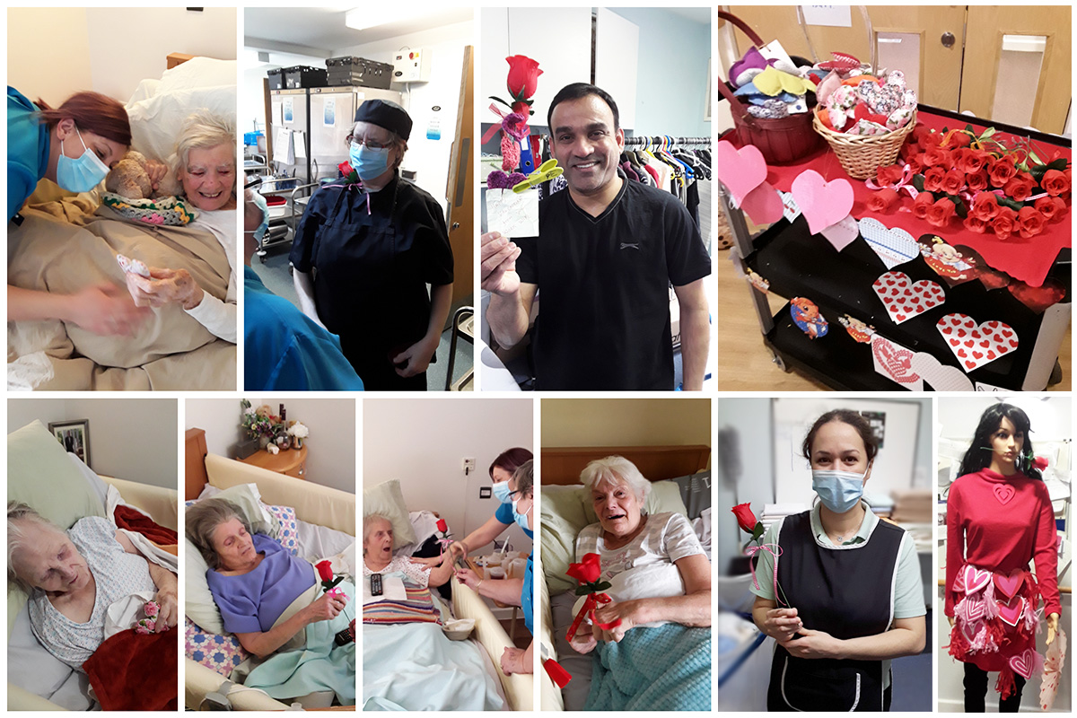Valentines love at Hengist Field Care Home