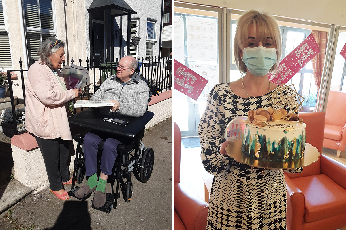 Birthday surprises at Hengist Field Care Home