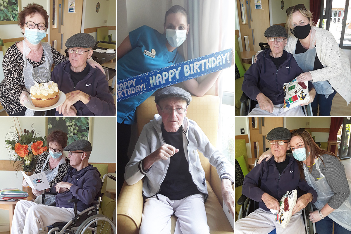 Happy birthday to Fred at Hengist Field Care Home