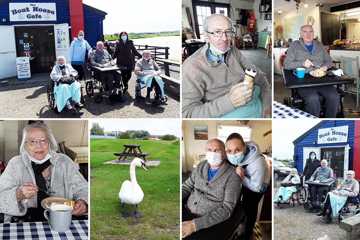 Hengist Field Care Home residents enjoy a trip to Bartons Point