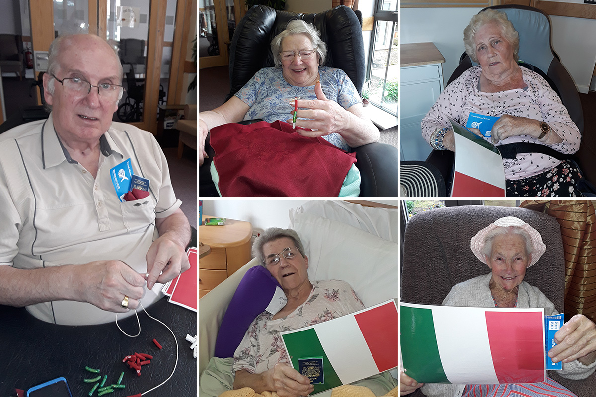 En route to Italy at Hengist Field Care Home