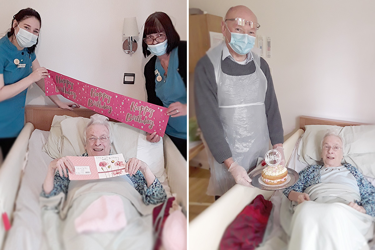 Birthday wishes for Marion at Hengist Field Care Home