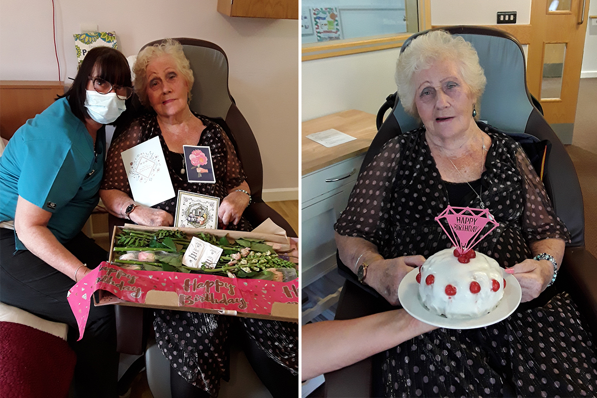 Happy birthday to Peggy at Hengist Field Care Home