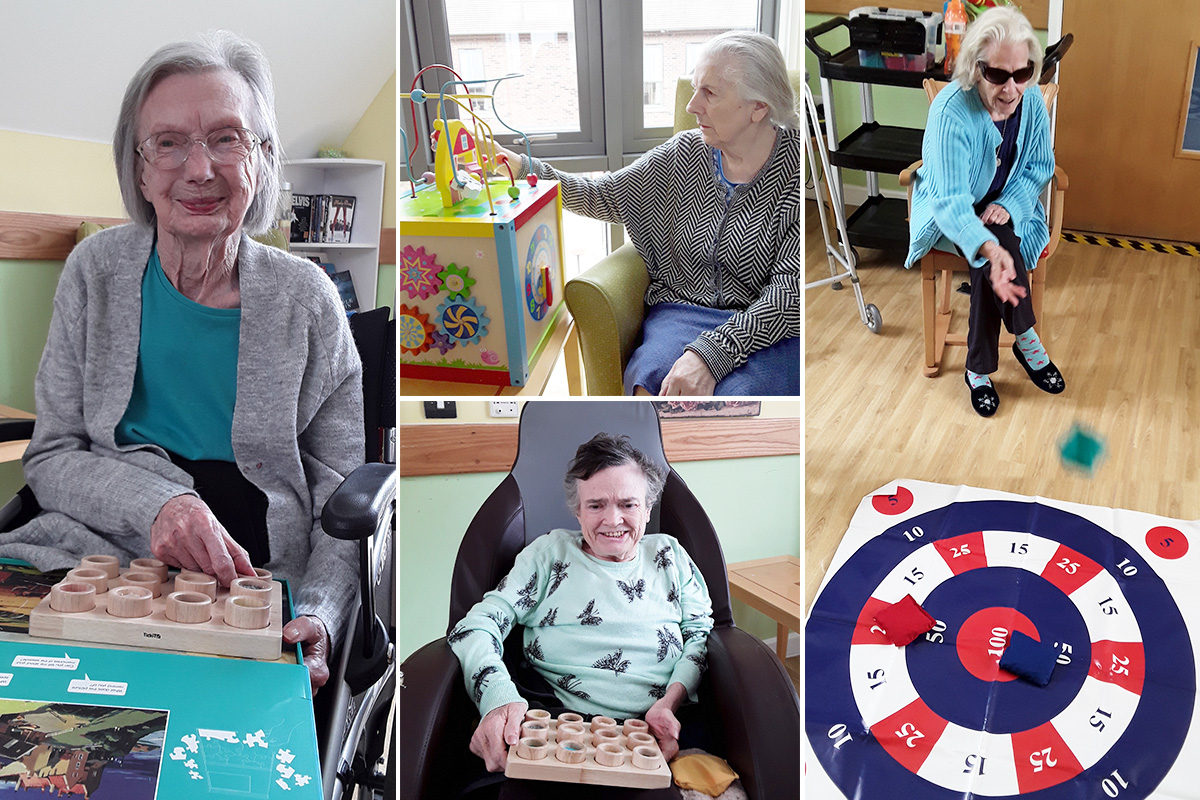 Sensory fun and target practice at Hengist Field Care Home