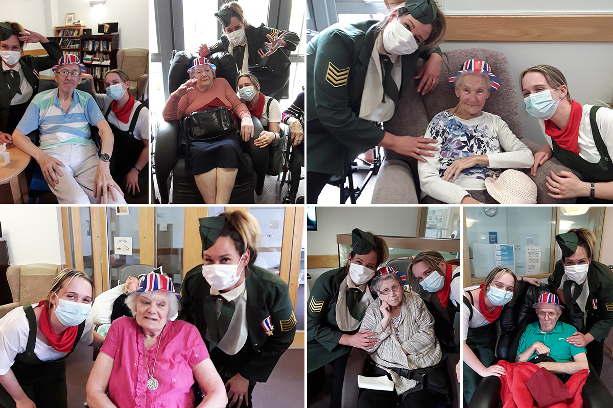 Hengist Field Care Home residents celebrate VE Day with a singalong