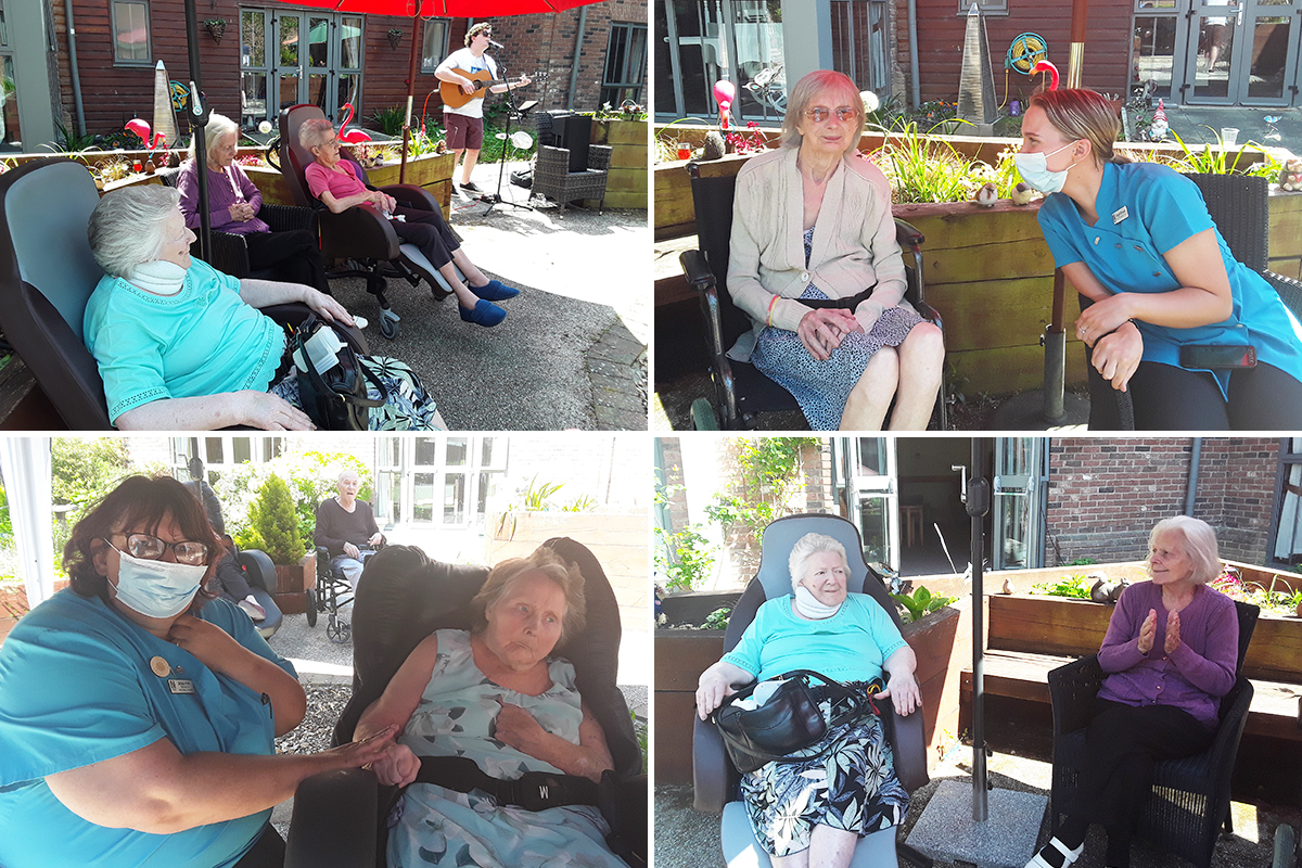 Fred Clark performs for Hengist Field Care Home residents