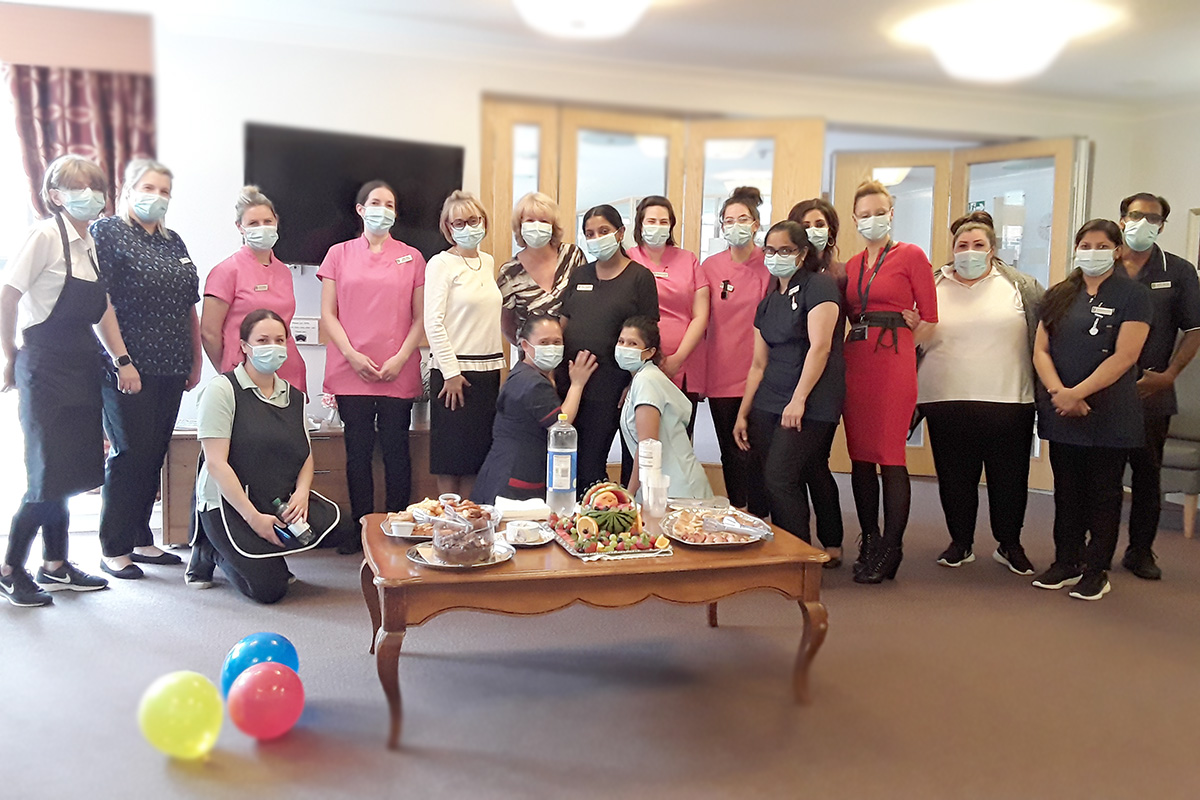 Leaving celebrations for Jane at Hengist Field Care Home