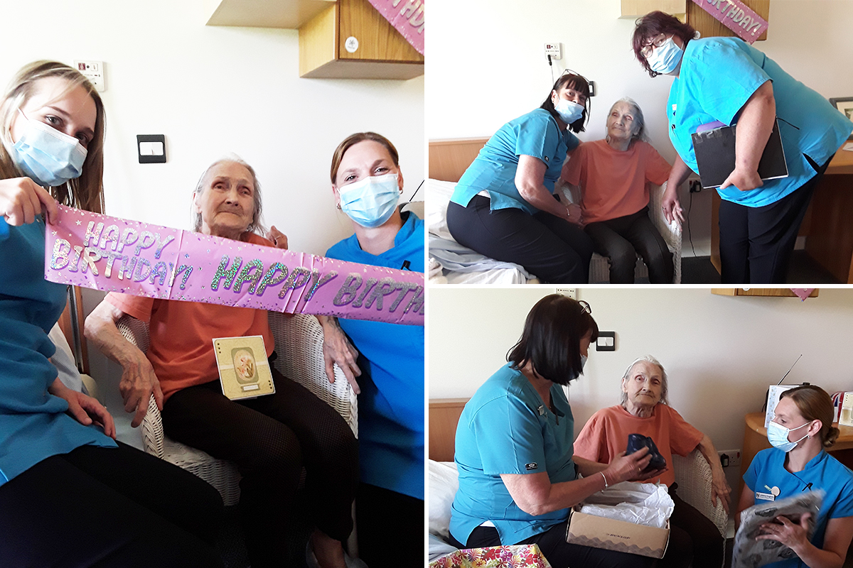 Happy birthday to June at Hengist Field Care Home