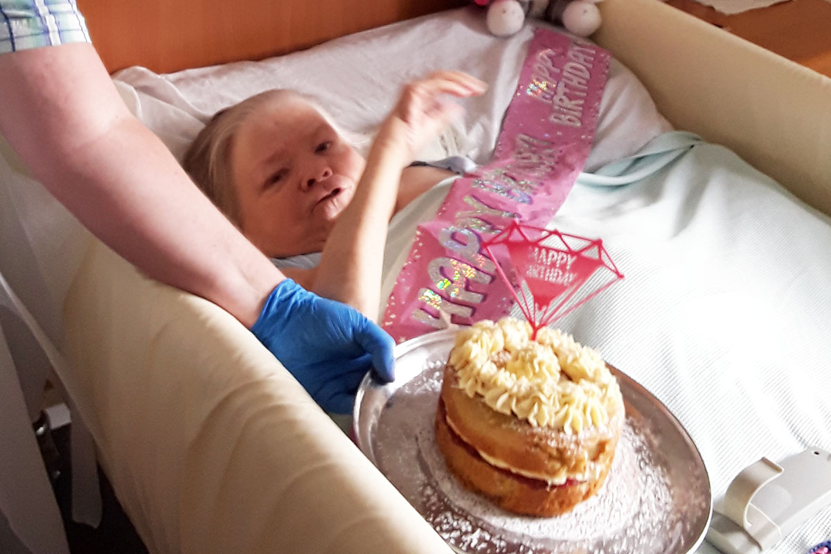 Happy birthday to Eileen at Hengist Field Care Home