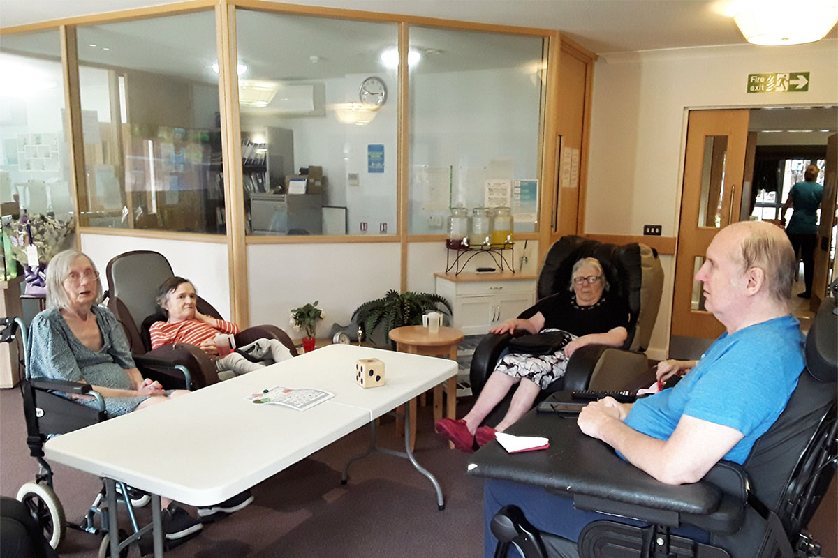 Getting To Know You board game at Hengist Field Care Home