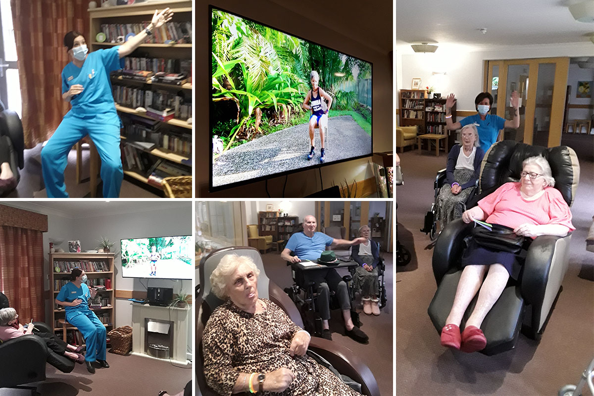 Introducing seated Zumba at Hengist Field Care Home