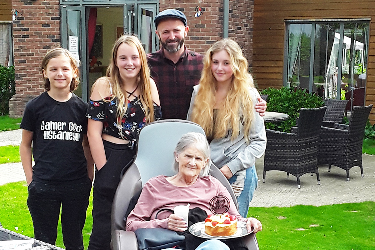 Birthday celebrations for Carole at Hengist Field Care Home