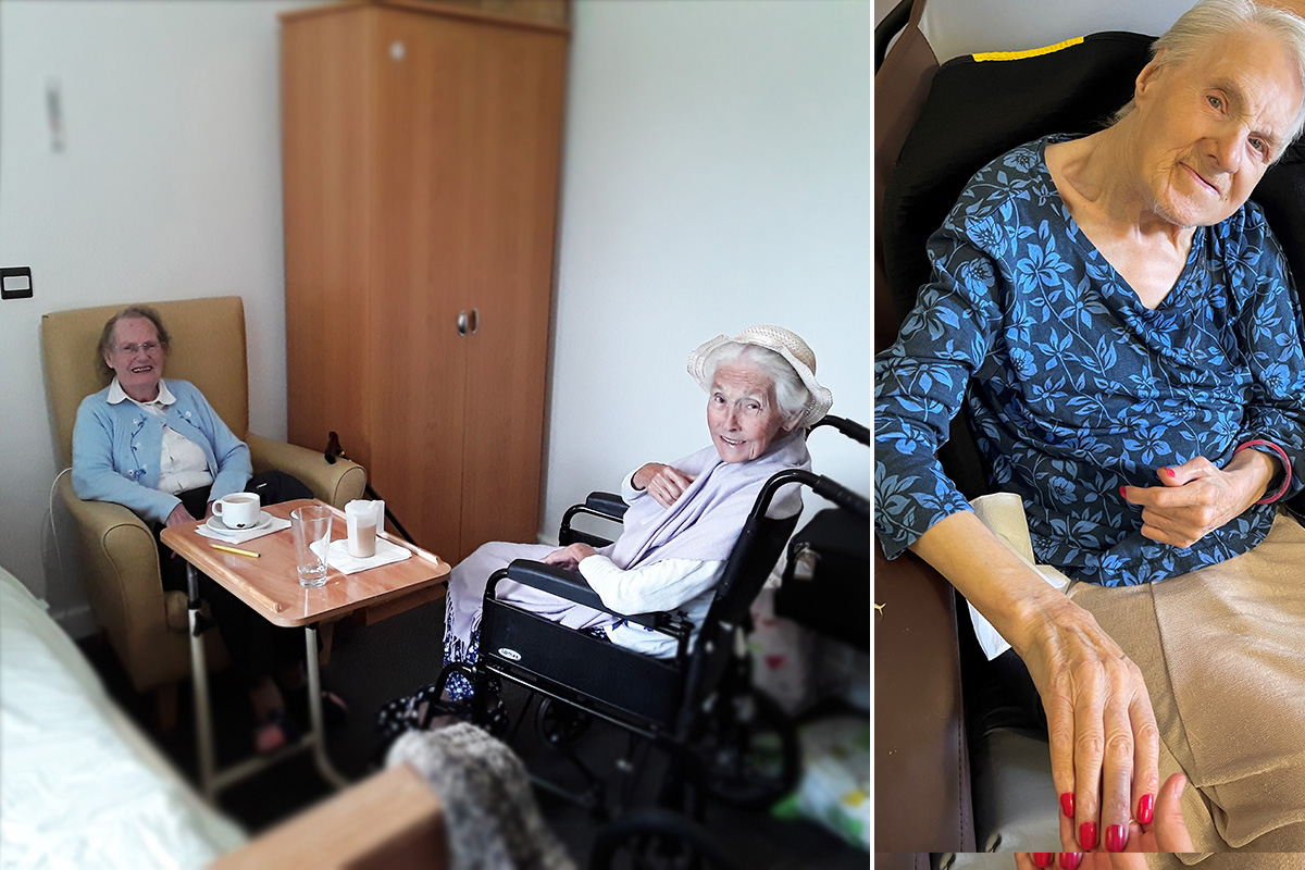 Friends and pampering at Hengist Field Care Home