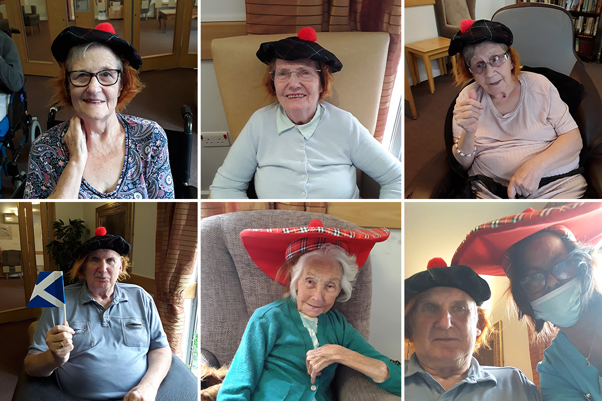 A nod to Bonnie Scotland at Hengist Field Care Home
