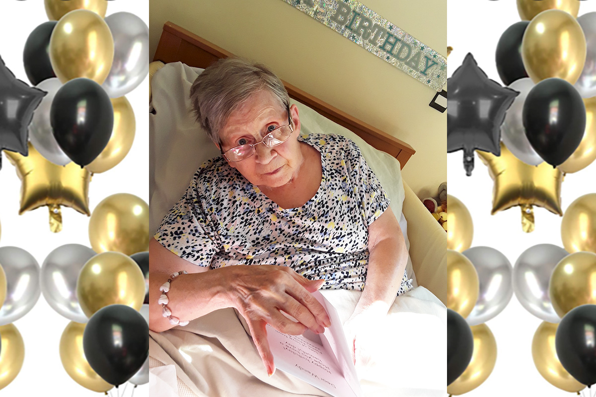 Happy birthday to Wendy at Hengist Field Care Home